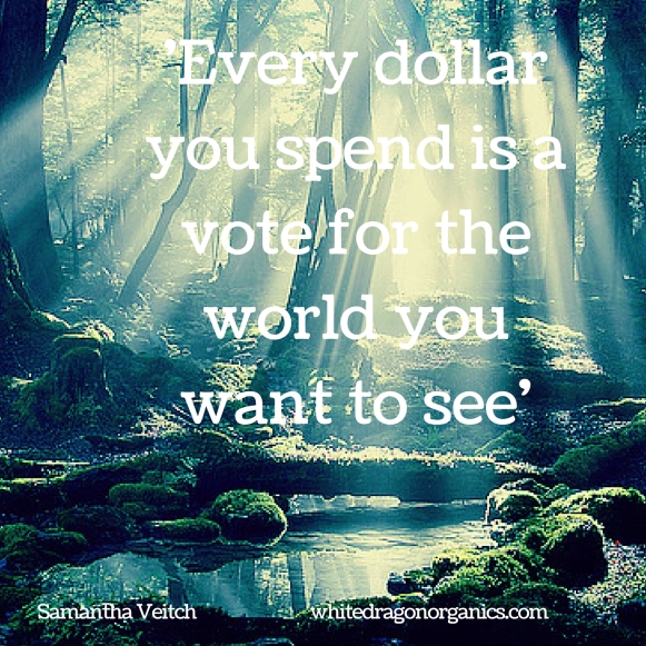 Every dollar you spend is a vote for the world you want to see