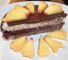 Raw Frozen Almond BerryPie