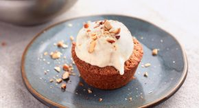 Almond Butter Cookie Cups With Banana Vegan Ice Cream